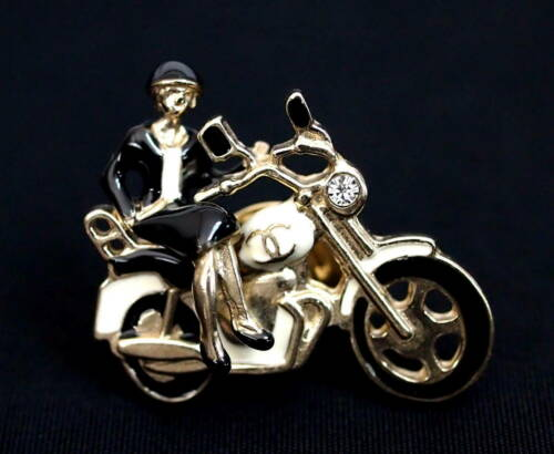 Authentic Vintage Chanel 2010 Motorcycle Pin Brooc