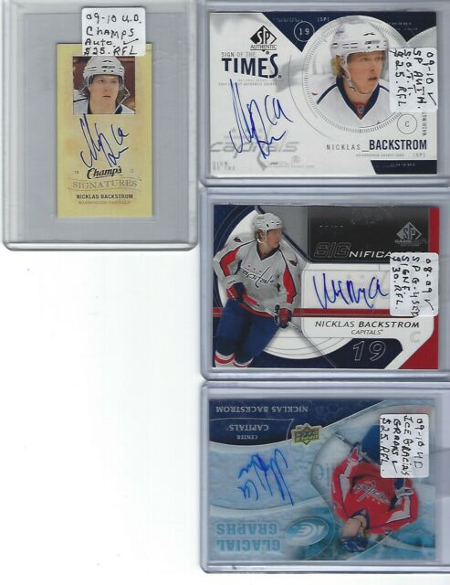 2009-10 SP AUTHENTIC SIGN OF THE TIMES NICKLAS BACKSTROM AUTO WASHINGTON