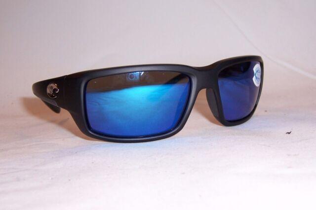 81752e104e NEW COSTA DEL MAR FANTAIL SUNGLASSES BLACK BLUE MIRROR 400G  199 AUTHENTIC