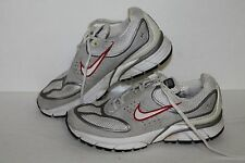 Nike Zoom Plus + Running Shoes #314018-111 Grey/Red/Slvr Womens US Size 6