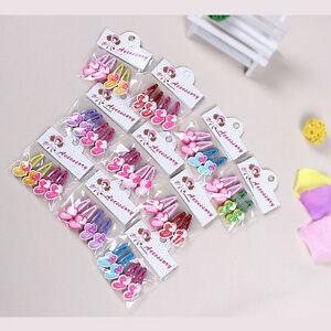 Magic-Kids-Girls-Hair-Clips-Mixed-Assorted-Slides-Hair-Jewelry-Random-PatternLJ