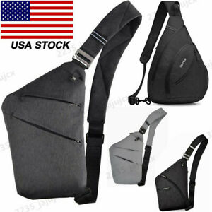 Men Women's Crossbody Sling Shoulder Bag Chest Cycle Bag Pack Travel Backpack