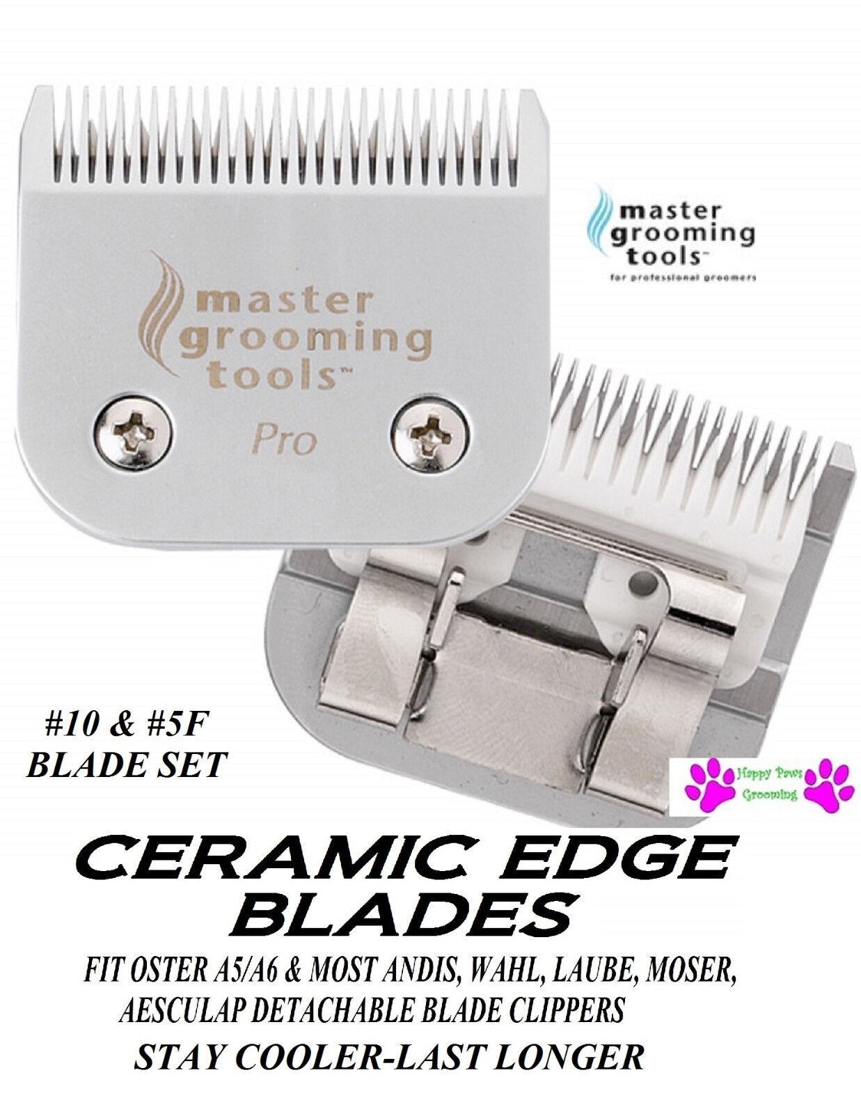 Ceramica pro Edge 10&5f 5fc Blade Set * Fit Oster A5 A6,Maggior Parte Andis