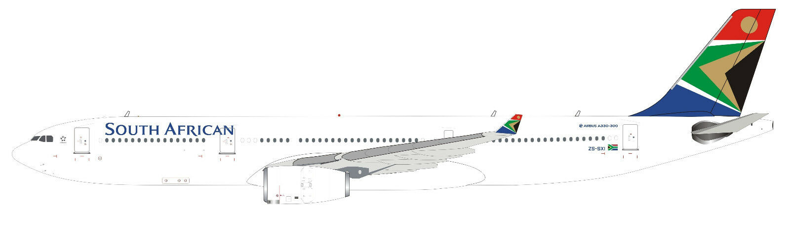 INFLIGHT 200 IF333SA0818 1 200 SOUTH AFRICAN AIRWAYS AIRBUS A330-300 ZS-SXI