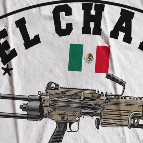El Chapo Guzman T-Shirt Sinaloa Cartel Kingpin Sicario Mexican Hitman Narco Tee