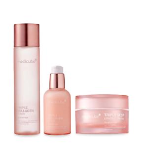 Medicube-Triple-collagen-3-set-Toner-Serum-Cream-Deep-Glow-K-beauty