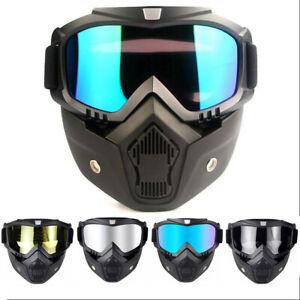 Anti Glare Motorcyle Goggles Tactical Face Mask Riding Eyewear Wargame Glasses Ebay