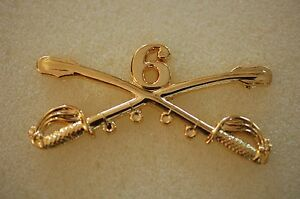US-USA-Army-6th-Cavalry-Crossed-Sabres-Large-Military-Hat-Lapel-Pin