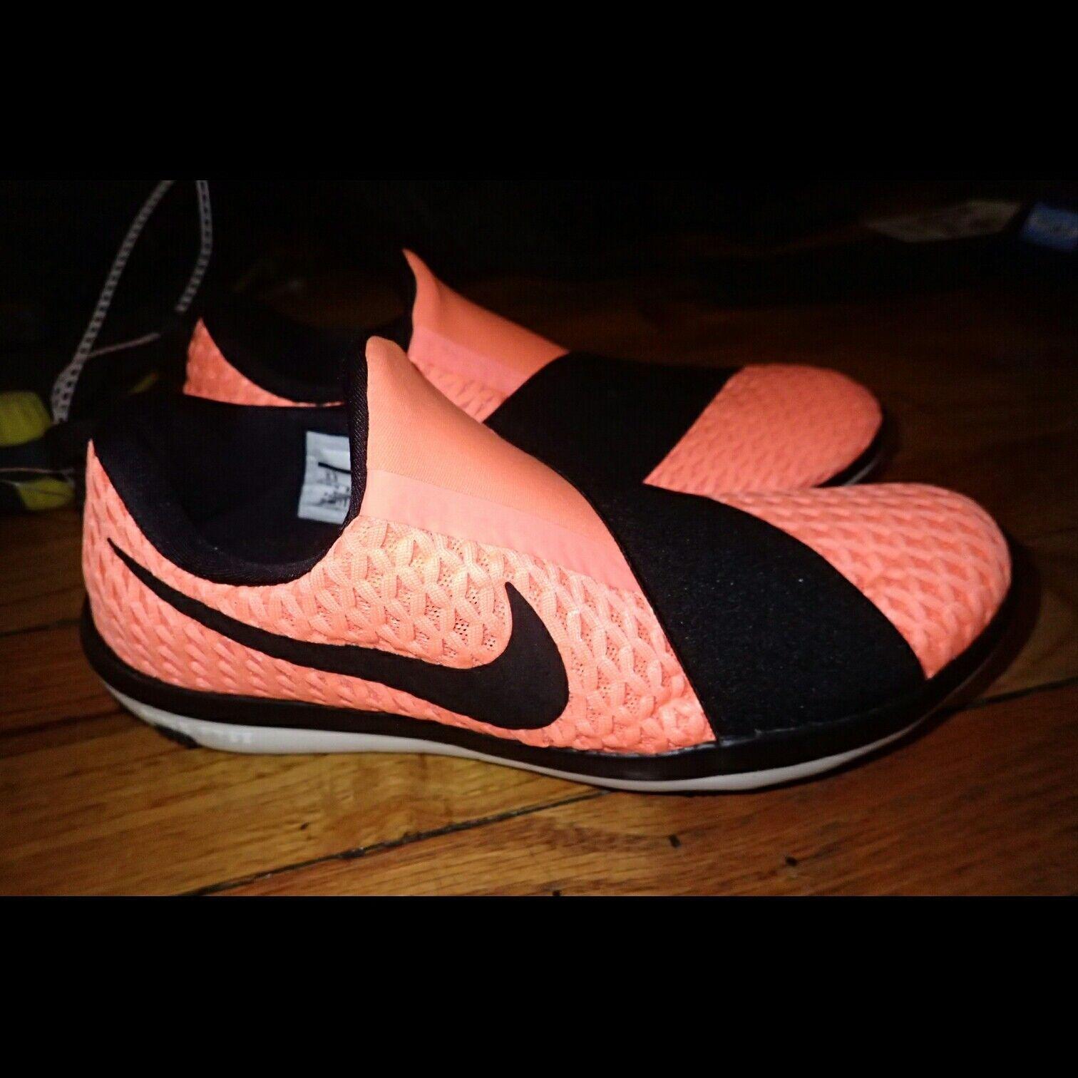 Nike Free Neon orange Black Training Sneakers 5.5