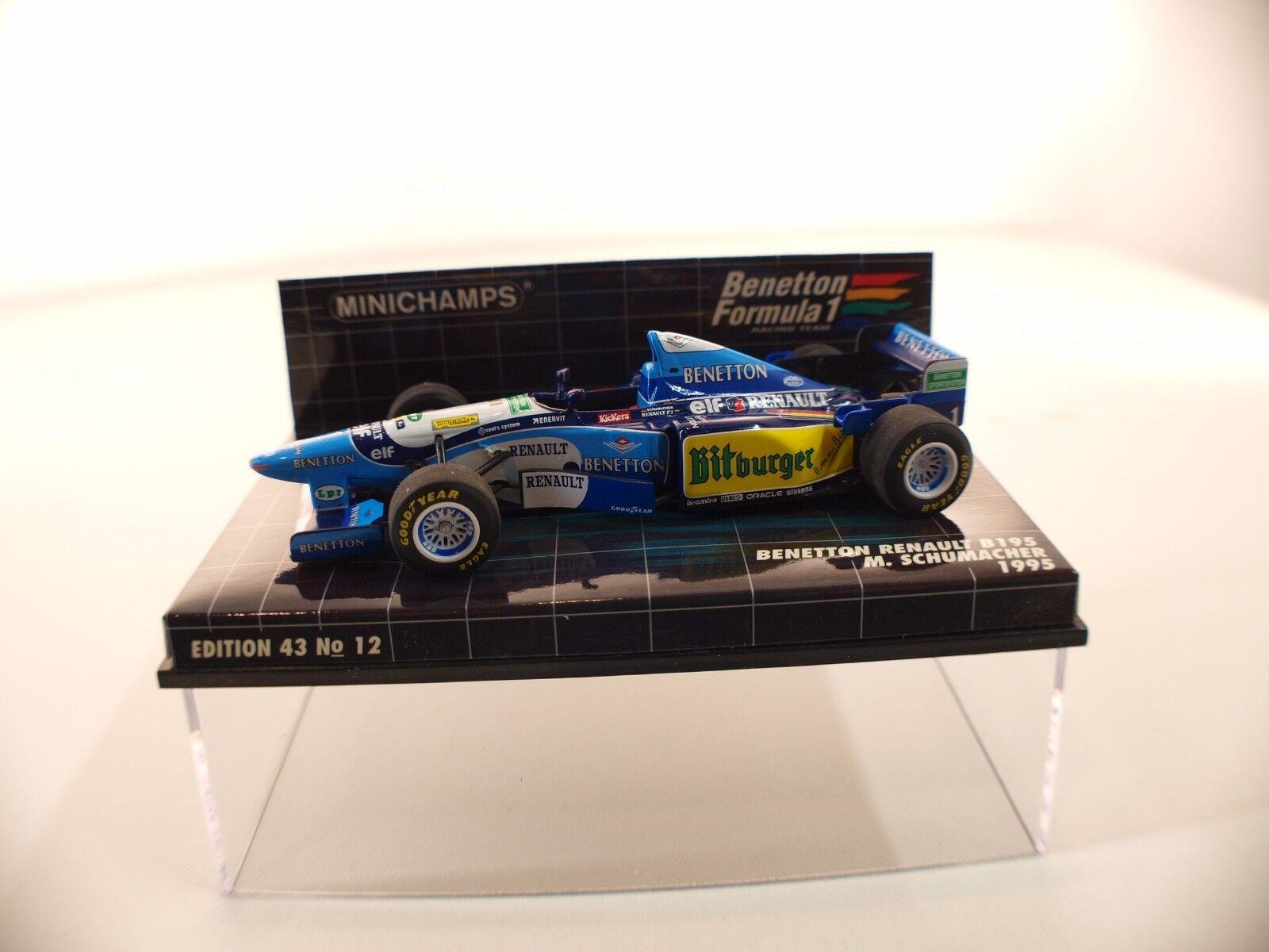 Minichamps Benetton B195 1995 Michael Schumacher 1 43 neuf boxed   en boîte