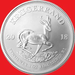 2018 1oz Silver Krugerrand in COIN CAPSULE