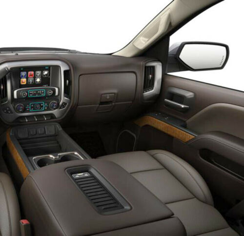 Fits 14-18 Chevy Silverado,Sierra COCOA Leather Center Console Lid Armrest Cover