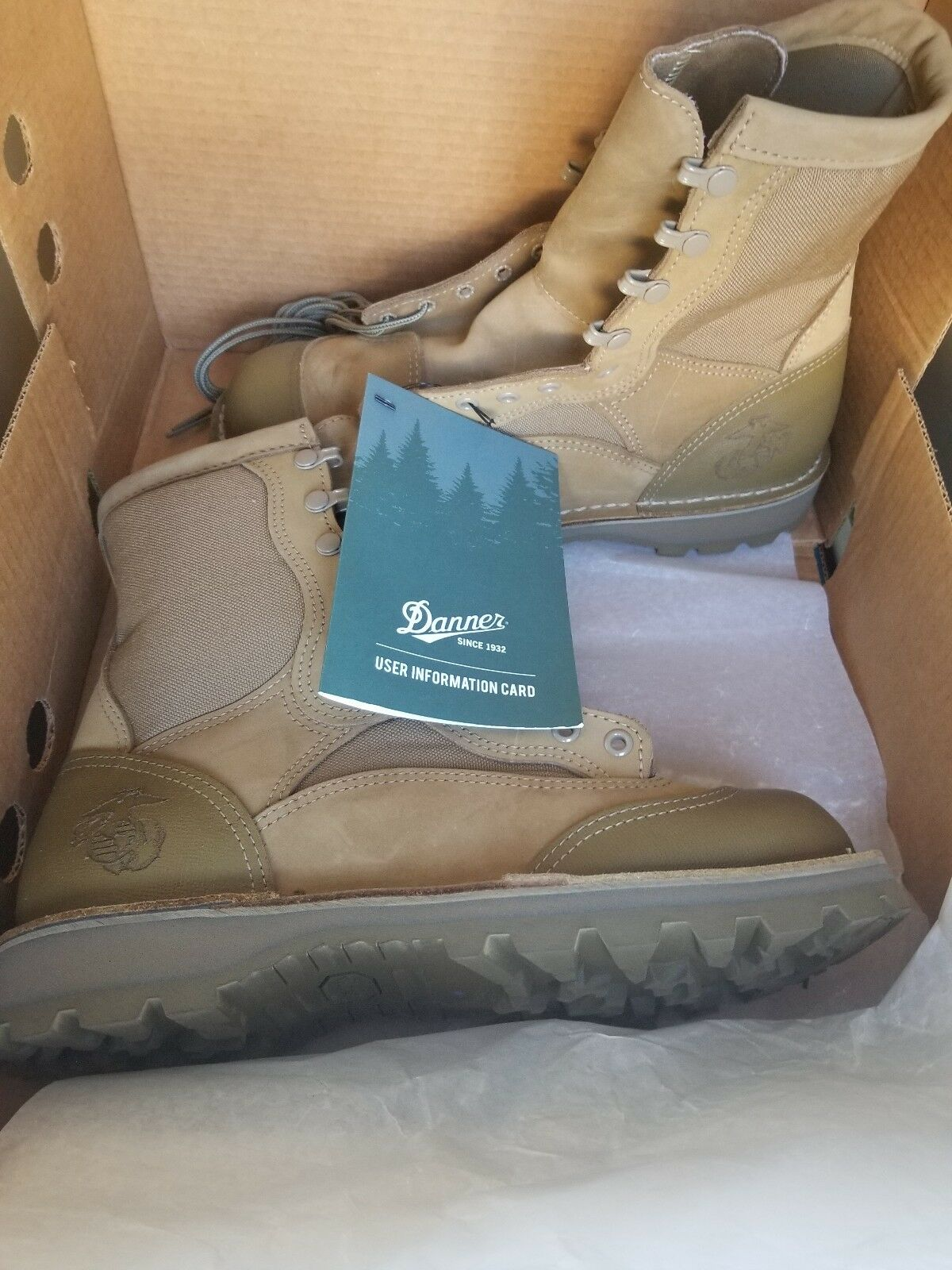 Danner USMC Rat Hot Weather 8  Mojave 15676 Military Stiefel Men 11.5 R
