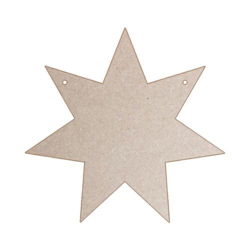 Silver 7 Point Star Canvas 5 Craft Blanks MDF Ply Hessian Gold Denim