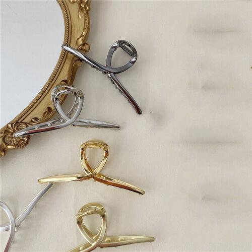 Vintage Metal Hair Claws Geometric Cross Hair Clip Hairpins Hair Accessories