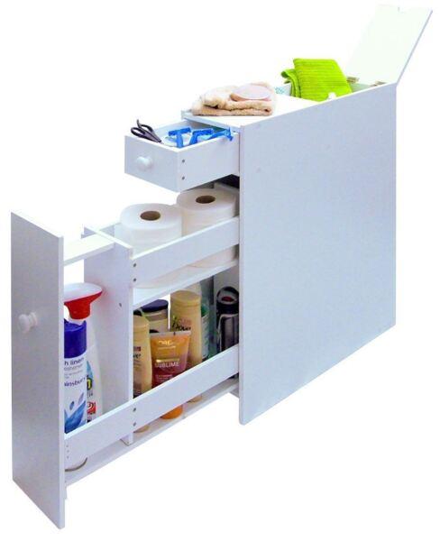 slimline space saving bathroom storage cupboard ebay. Black Bedroom Furniture Sets. Home Design Ideas