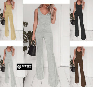Tuta-Pantaloni-Casual-Cerimonia-Donna-4-Colori-Woman-Jumpsuit-Romper-660033