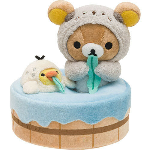 Rilakkuma Kiiroitori Squishy Sea Otter Hot Spring ❤ Plush Doll Soft San-X Japan