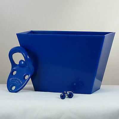 Starr Cavalier BLUE COMBO Wall Mount Bottle Opener and Blue Plastic Cap Catcher