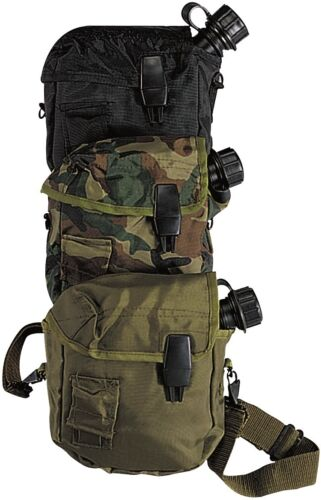 GI Style Tactical 2 Quart Bladder Canteen Cover Camping//Hiking Camo Black OD