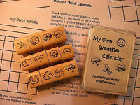 Weather - Mini Calendar Set, 12 Stamps In Plastic Box With Teaching Instructions