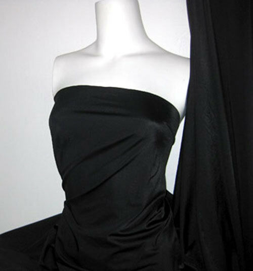 Black Lycra/Spandex 4 way stretch Finish Fabric