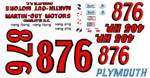 #86 or #87 Buck or Buddy Baker Martin Guy Motors 1//64th HO Scale Decals