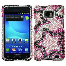 Straight Talk Samsung Galaxy II 2 S959G Crystal BLING Case Phone Cover Twin Star
