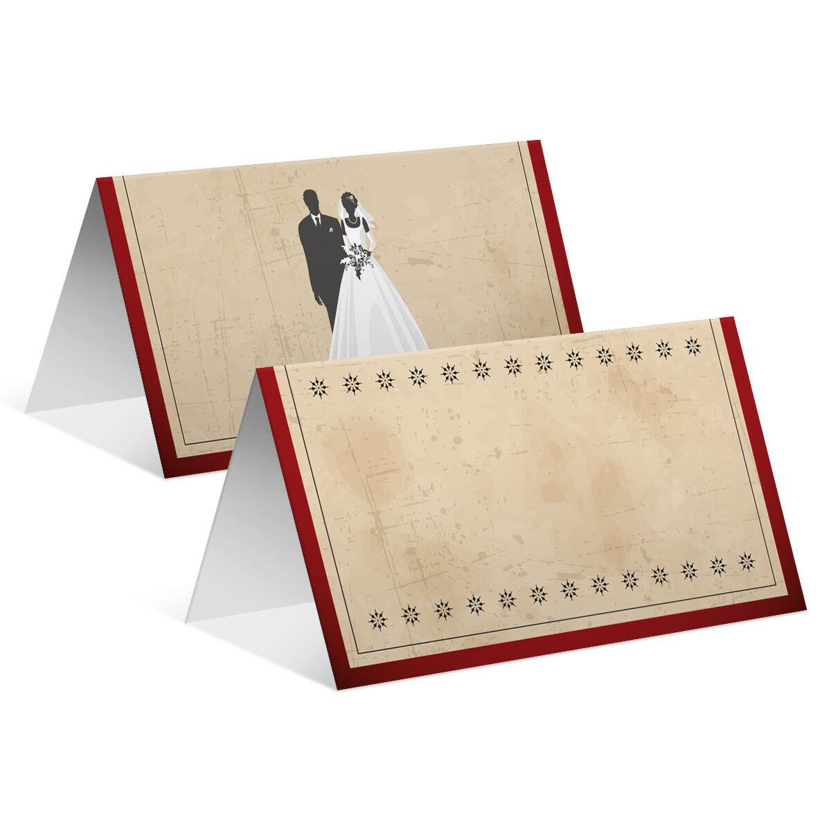 Blanko Platzkarte Tischkarten Tischkarten Tischkarten Geburtstag Hochzeit - Vintage Brautpaar Rot   Angenehmes Gefühl    Sonderaktionen zum Jahresende  da2006