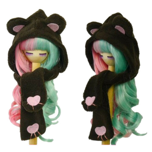 1//3 BJD Smart Doll Clothes Cat Ear Scarf Hat for LUTS DOD SD DZ Accessory