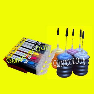 5-cartouche-compatible-rechargeable-150ml-encre-pour-Canon-PGI-580-581-TR7550