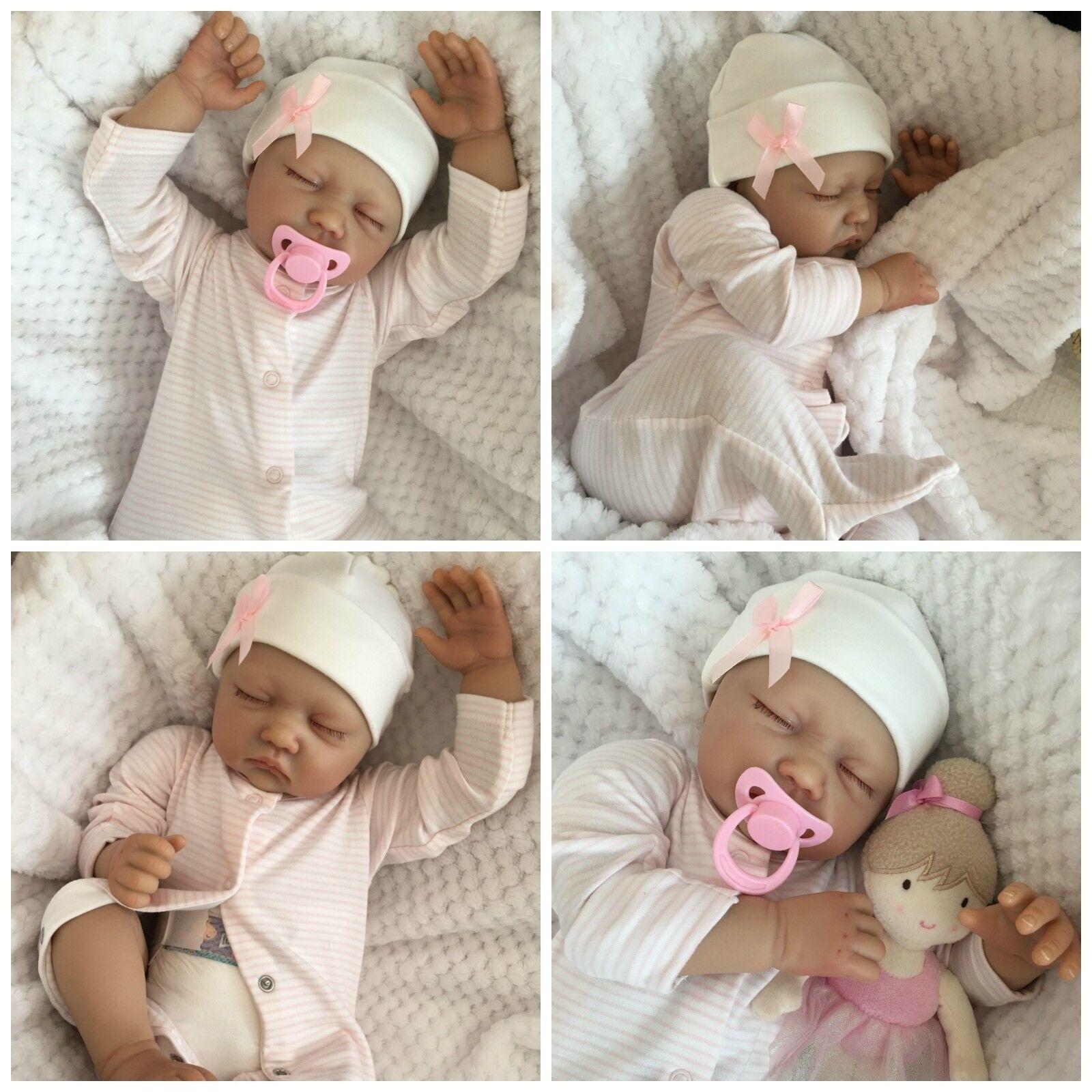 Bebé Reborn Girl Muñeca Sophie falso Bebés realista Pintado A Mano 22  Recién Nacido
