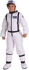 Child Astronaut Costume Space Explorer White Flight Suit Kids Size Medium 8-10