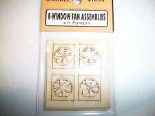 Bar Mills O Scale Window Fan Assemblies 8 pack  # 04034 Bob The Train Guy