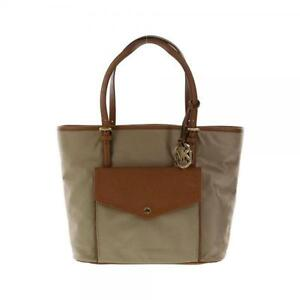 5be0732ba897 MICHAEL KORS JET SET ITEM NYLON DUSK+BROWN POCKET MULTI FUNCTION ...