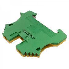 WPE  2.5 mm² // E 08a 2 Stück WEIDMÜLLER Schutzleiter-Reihenklemme