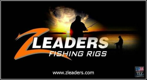 6 SINGLE HOOK RIG RED BEADS Z LEADERS #401 WIRE ICE FISHING TIP UP LEADER