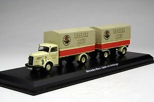 Schuco 1:43 / Lederer Bières Mercedes-benz L6600 Land-train Camion #shu03019