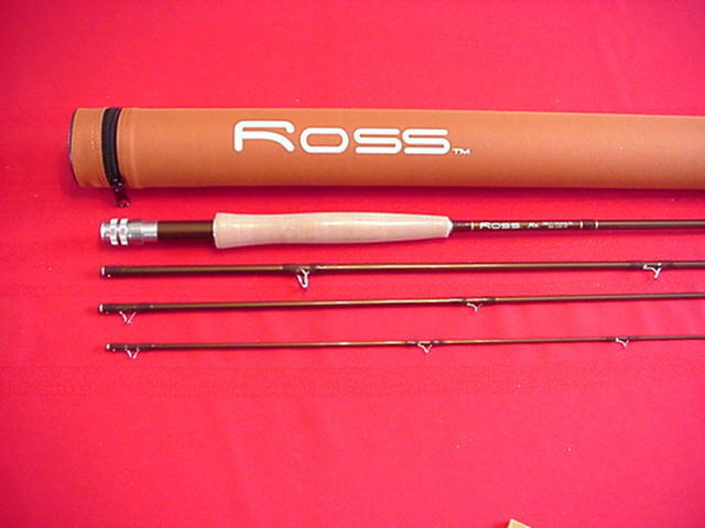 Ross Graphite Fly Rod Model RX 9 Ft 4 Piece  6 Line with Case GREAT NEW