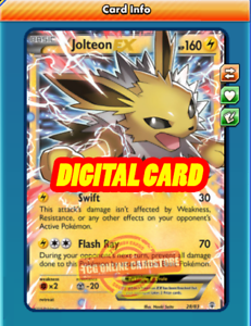 Jolteon EX 28/83 for Pokemon TCG Online (PTCGO, Digital ...