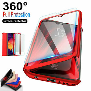 For Samsung Galaxy S9/S7/S8/S10/S21 360° Full Body Hard Case + Screen Protector