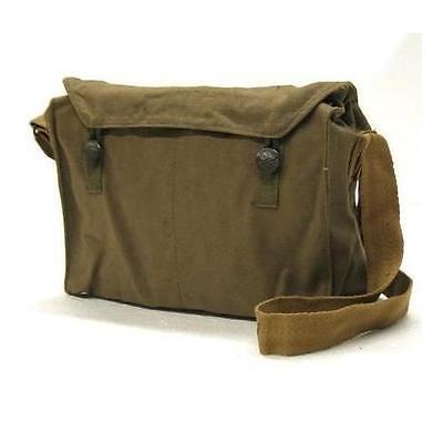 Retro Mens Ladies vintage military army messenger haversack satchel bag