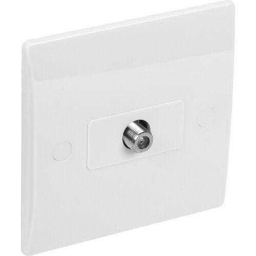 Nouveau 10 x blanc électrique plat plat satellite socket flush 1 Gang chaque livraison gratuite