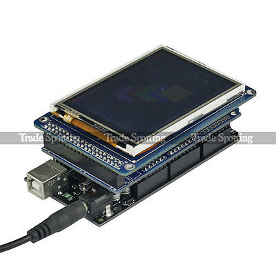 "SainSmart Mega2560 R3 + 3.2"" TFT Touch LCD SD Card + TFT Shield Kit For Arduino"