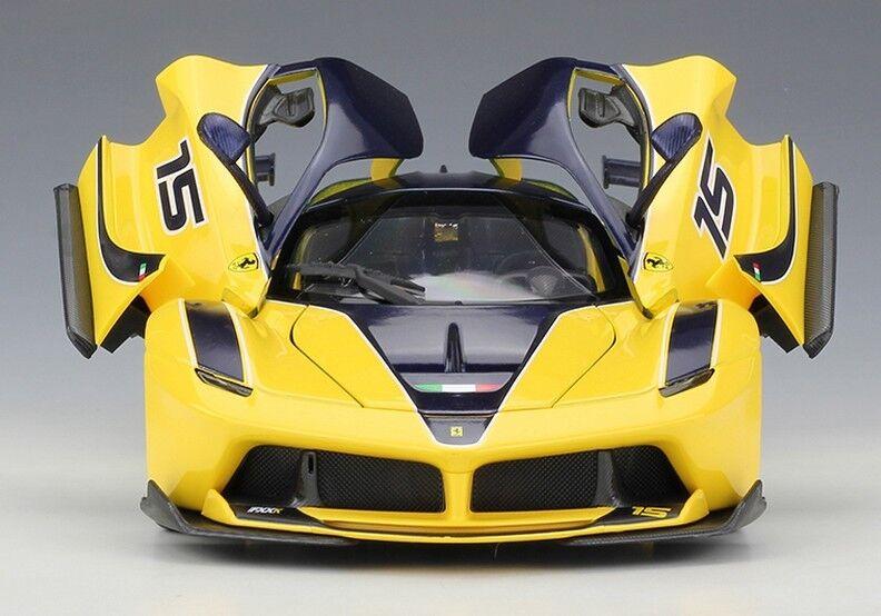 Bburago 1 18 Ferrari FXX K Diecast Metal Voiture Modèle roadster neuf en boîte jaune