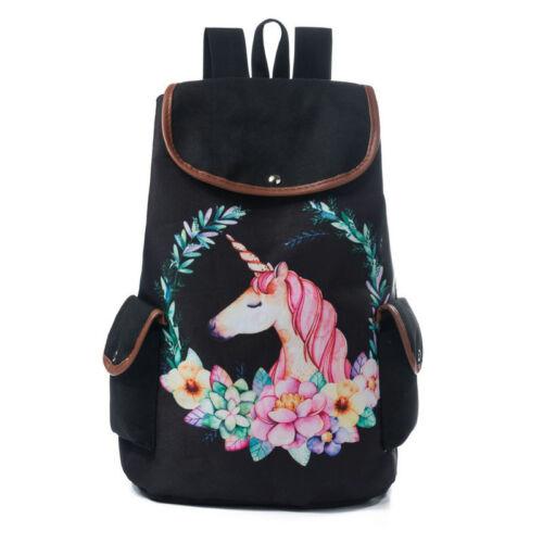 Kids Unicorn Backpack Rucksack Cartoon School College Travel Laptop Bags Gift UK