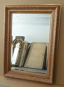 """Large Solid Wood """"34x46"""" Rectangle Beveled Framed Wall ..."""