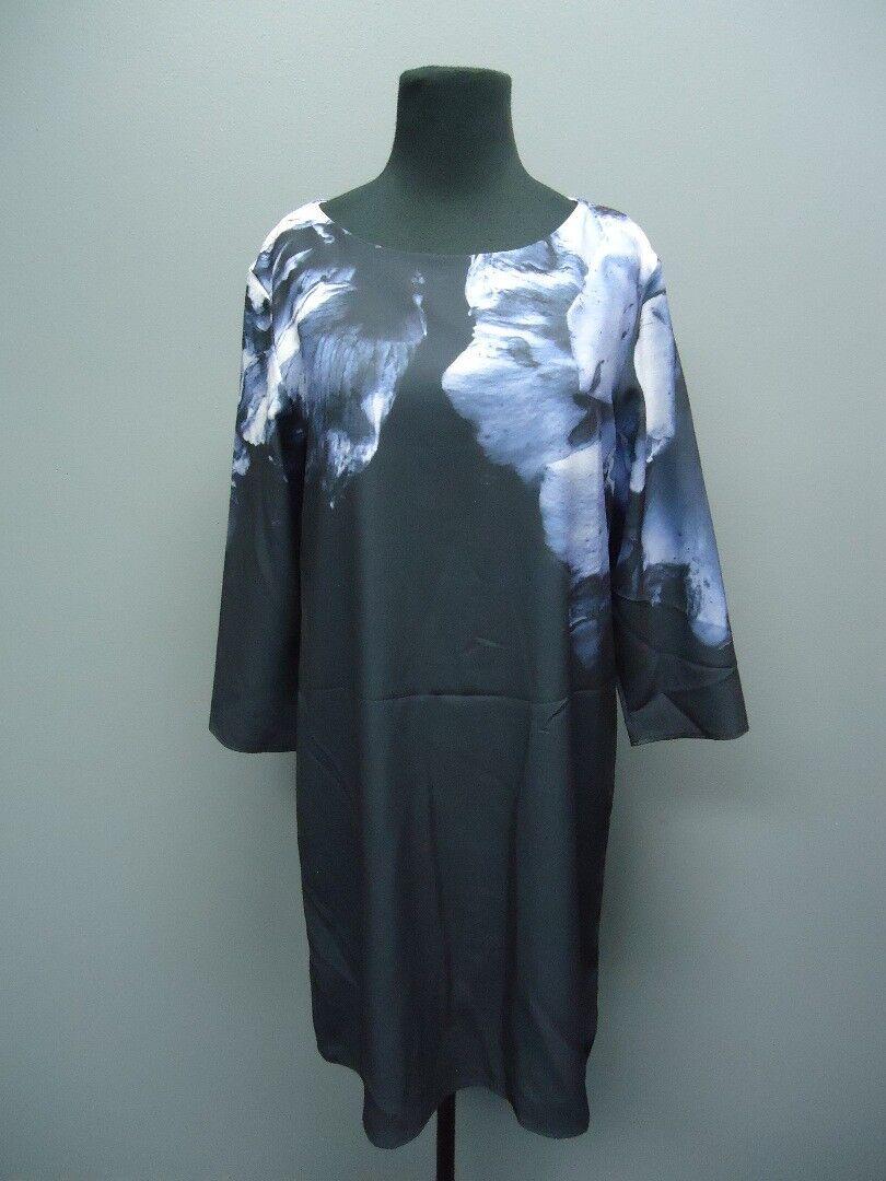 LA GALERISTE Dark bluee Flora Long Sleeves Sample Dress NWT Sz M EE9014
