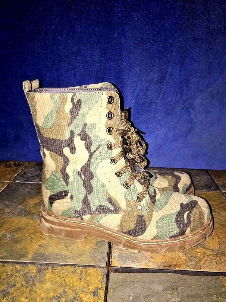 CA CA CA COLLECTION Camouflage Military Combat Boots UNIQUE Womens shoes Size 6  791889