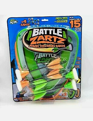Details about  /Zing Toys Battle Zarts Urban Throwing Darts Includes 2 Shields 4 Darts Up To 15m